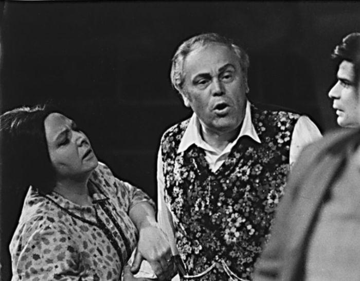 Sedlák Dubský v dramatu Ladislava Stroupežnického Naši furianti – Národní divadlo v roce 1970
