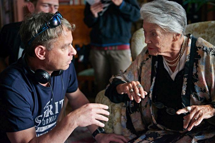 S režisérem Filipem Renčem během natáčení velkofilmu Lída Baarová