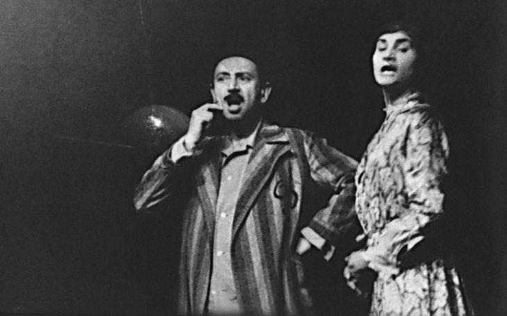 S Helenou Lehkou v roce 1963 v Divadle Na zábradlí, v dramatu Václava Havla Zahradní slavnost