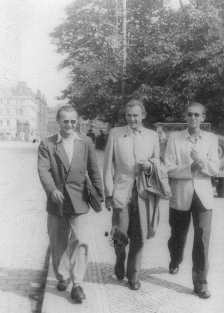 Nerozluční kamarádi z Pelhřimova Oldřich Lipský, Lubomír Lipský a Jiří Lír dobývají Prahu
