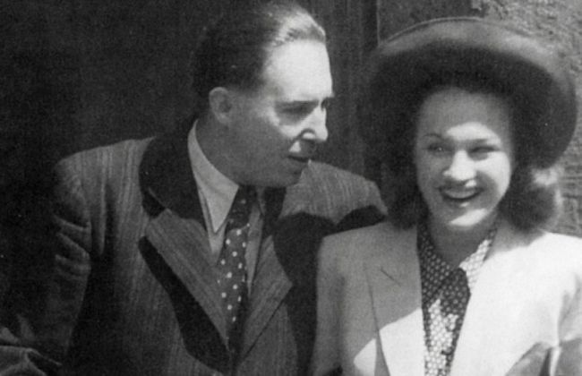 S prvním manželem, malířem Zdeňkem Tůmou