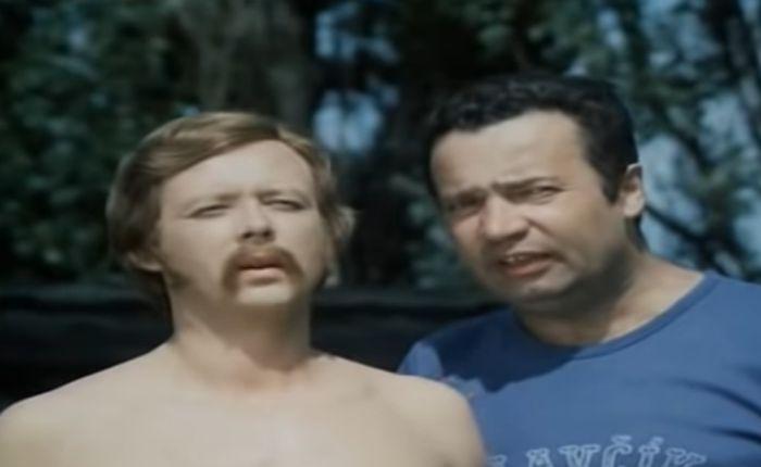 S Vladimírem Menšíkem v komedii Jak utopit dr. Mráčka