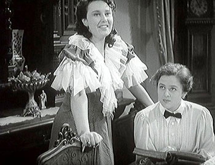 Lékařka Marie a zpěvačka Tynda (Lída Baarová) v roce 1941 v dramatu Turbina