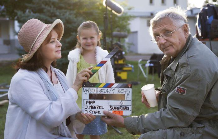 S Libuškou Šafránkovou při natáčení svého posledního celovečerního filmu Donšajni