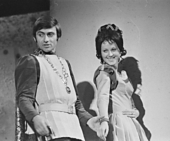 Se Slávkou Špánkovou v komedii Williama Shakespeara Kupec benátský – Divadlo S. K. Neumanna 1972