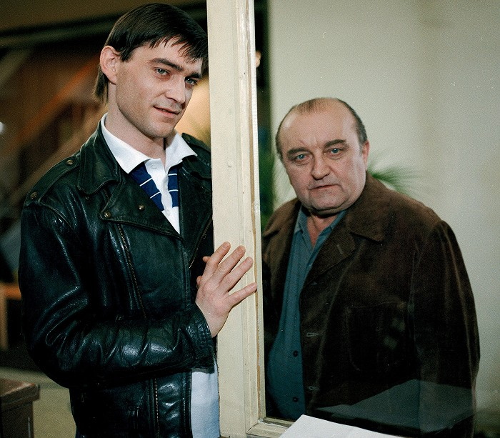 S Vladimírem Dlouhým v seriálu Případy poručíka Haniky
