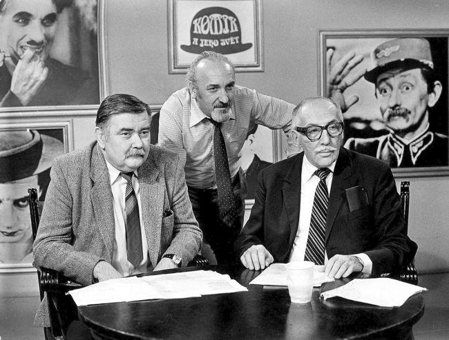 S filmovým historikem Karlem Čáslavským a Milošem Kopeckým, kterého vystřídal v pořadu Komik a jeho svět