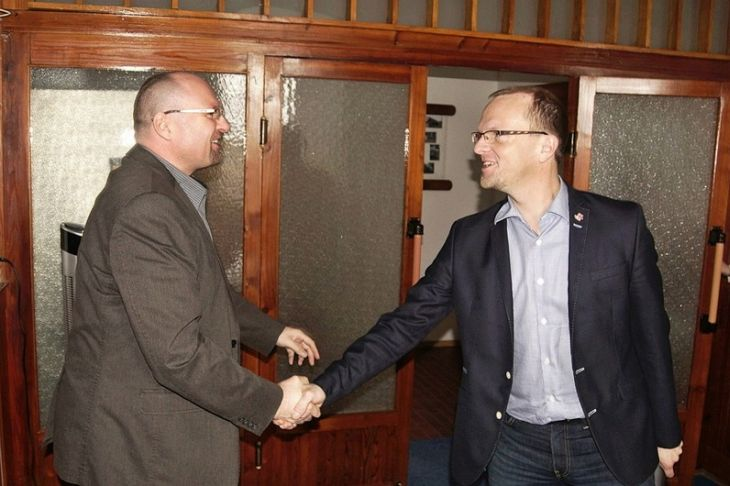 Hejtman Martin Netolický se starostou Seče Marcelem Vojtěchem