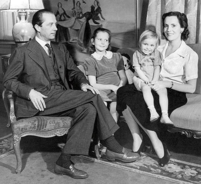 S manželem, dcerou Jarmilou a malým Jiřím (Georgem)