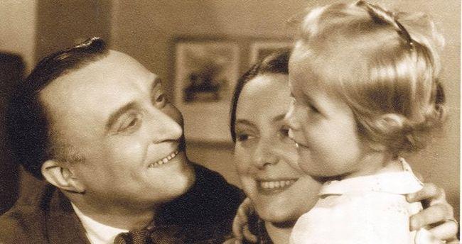 S manželkou Alicí a dcerou Janou (foto z knihy Blanky Kovaříkové Největší tajemství Oldřicha Nového)
