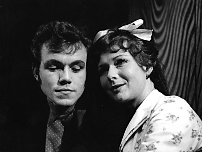 Se Svatavou Hubeňákovou v roce 1966 v kladenském Divadle Jaroslava Průchy, v komedii A. N. Ostrovského Talenty a ctitelé
