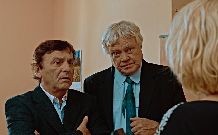 S Pavlem Trávníčkem ve svém posledním filmu Tajemství pouze služební
