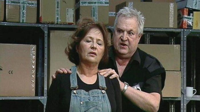 S Emílií Vášáryovou na scéně Divadla Kolowrat ve hře Josef a Marie