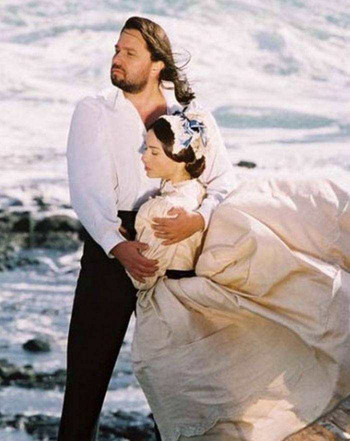S první manželkou Michaelou Kuklovou v romanci Andělská tvář