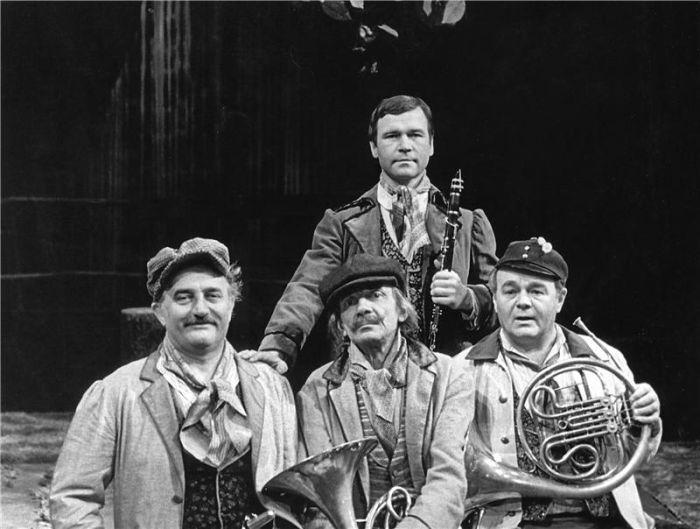 V Jiráskově Lucerně v roce 1983 – s Josefem Somrem, Josefem Kemrem a Bohuslavem Čápem