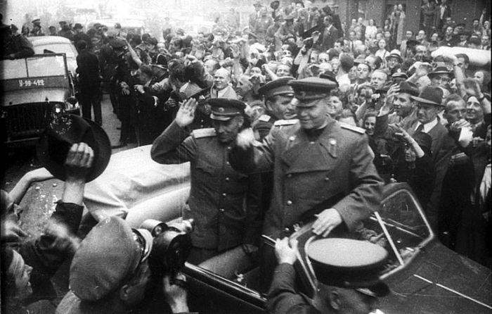 Koněv osvobození Prahy 1945