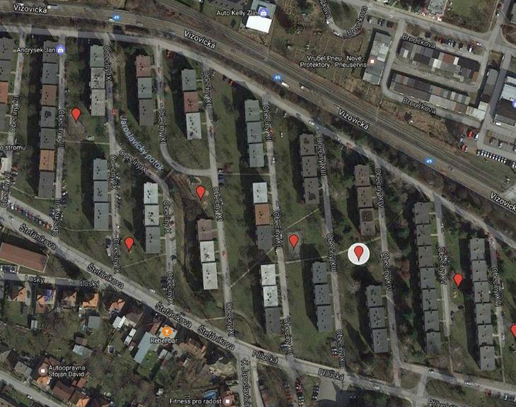 Lokalizace Rákosníčkova hřiště