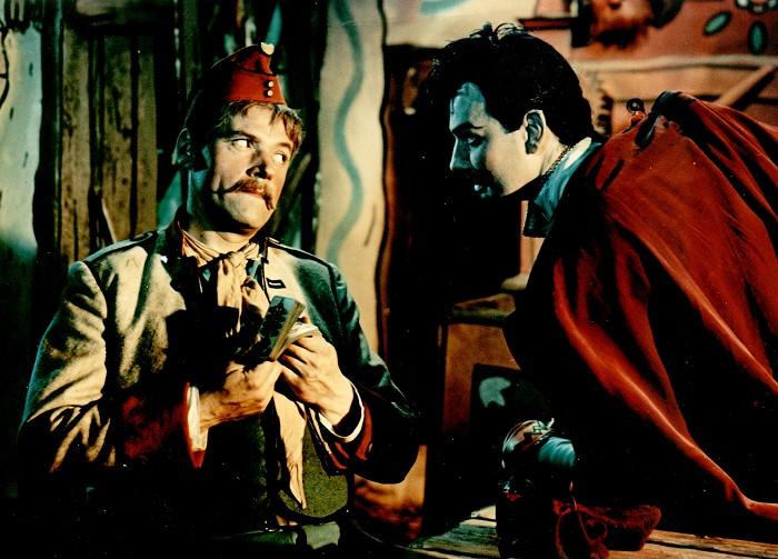 Kníže pekelné Solfernus a Martin Kabát (Josef Bek) v ladovské pohádce Hrátky s čertem