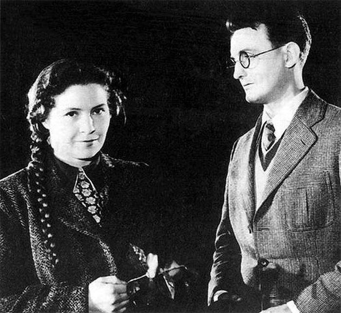 S Evou Kubešovou v roce 1954, v historickém dramatu režiséra K. M. Walló Botostroj