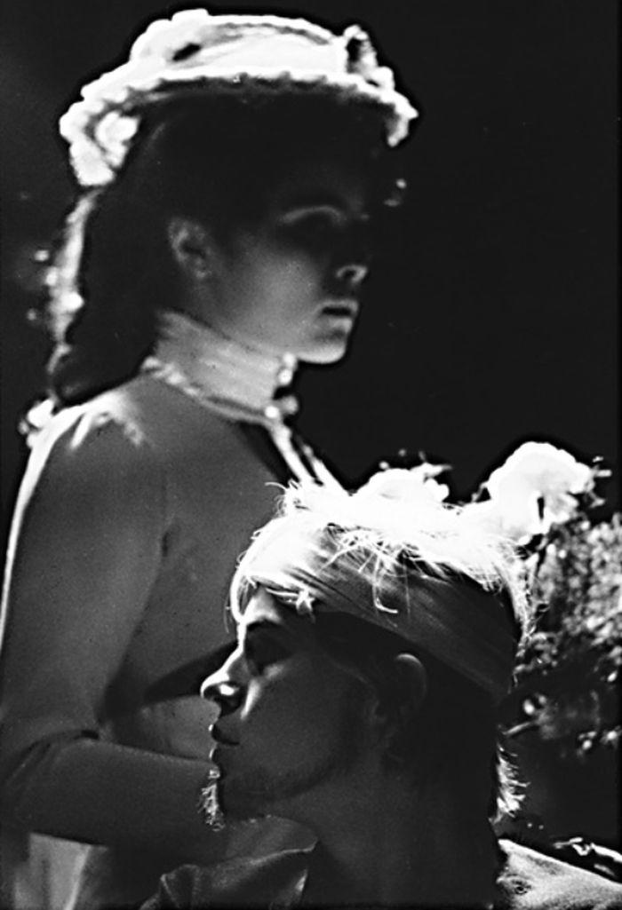 S Otomarem Krejčou mladším v pražském divadle za branou v roce 1972, v dramatu A. P. Čechova Racek