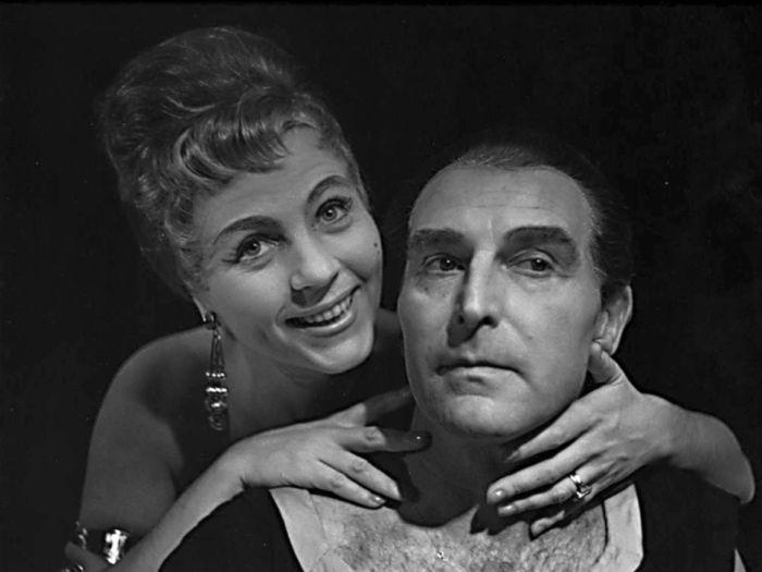 S Dagmar Kmínkovou v roce 1961, v představení Státního zájezdového divadla Kdyby všechny ženy světa