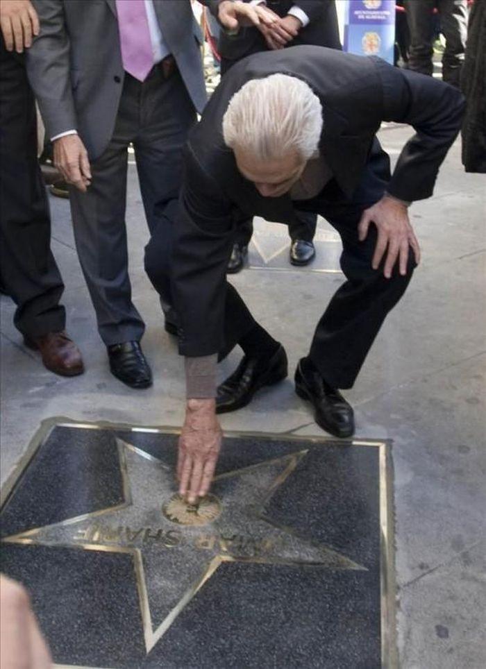 Se svou hvězdou na Hollywoodském chodníku slávy