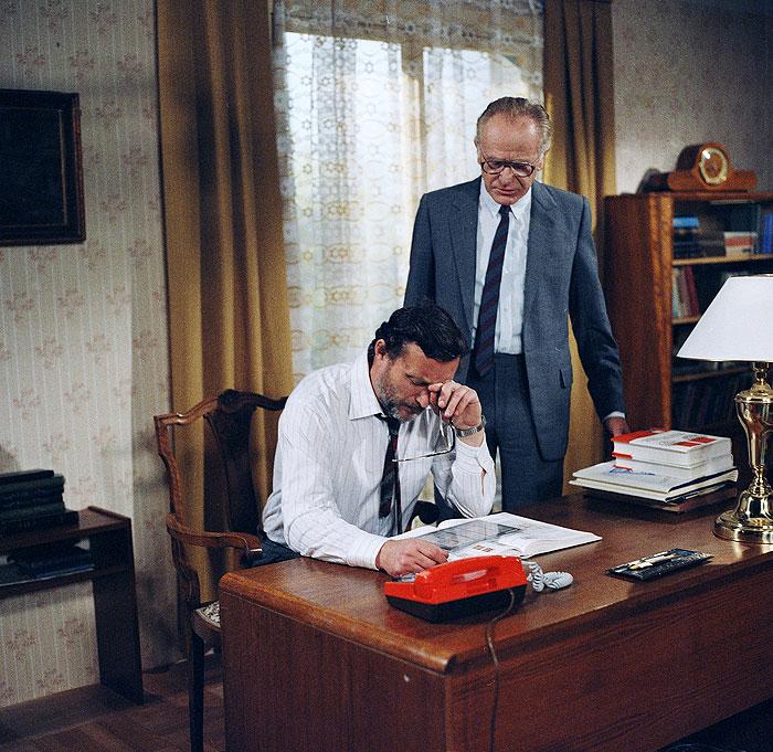 V jedné ze svých posledních rolí – jako Adámek s Ladislavem Frejem starším v televizní kriminálce Zdeňka Kubečka Trezor