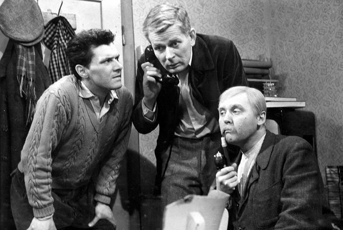 S Lubomírem Lipským a Ladislavem Trojanem ve filmu Tři chlapi v chalupě
