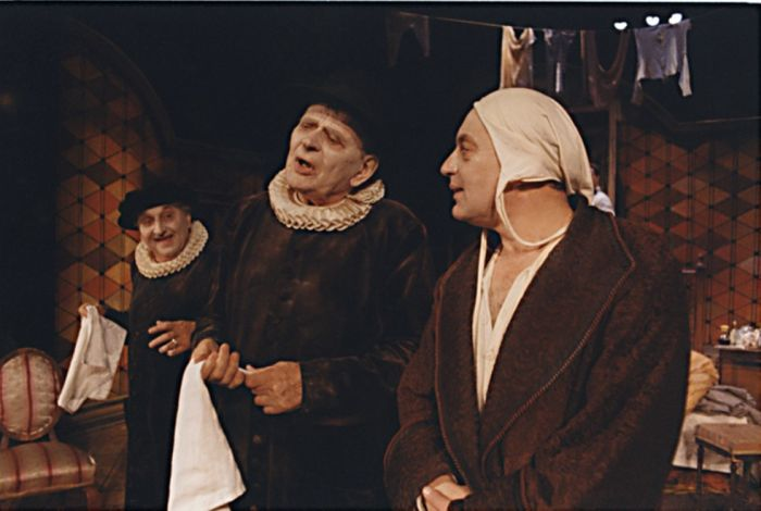 Diaforus v Molièrově dramatu Zdravý nemocný – Divadlo pod Palmovkou 1999