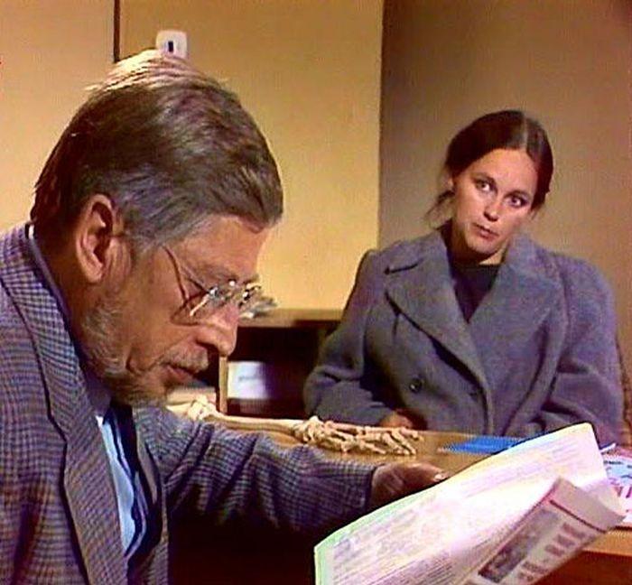 S Jiřím Holým v televizní komedii Zkouška - 1983