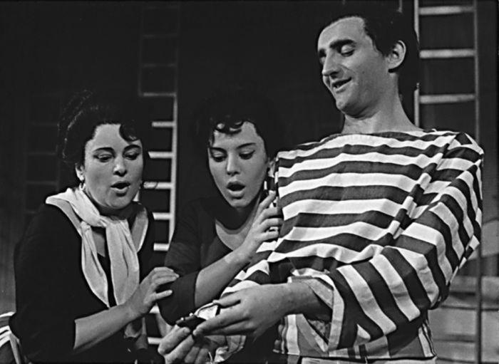 Beppo ve slavné komedii Carla Goldoniho Poprask na laguně – Východočeské divadlo Pardubice 1962