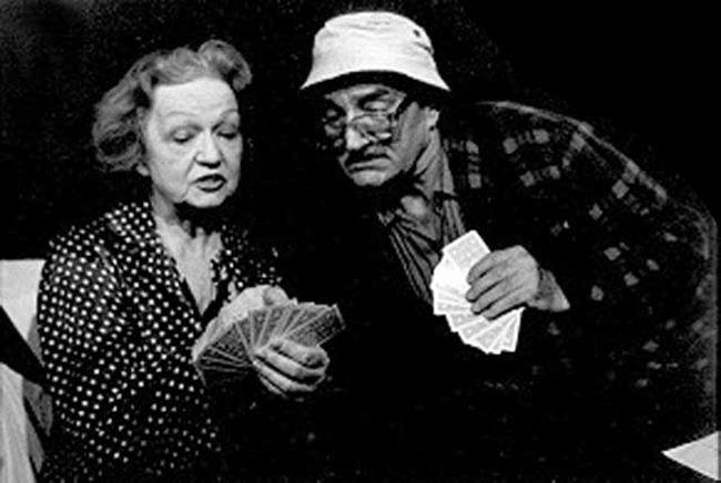 S Blankou Bohdanovou v pražském divadle Viola v představení Gin Game