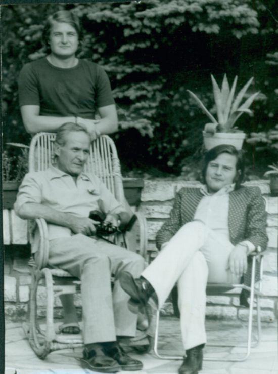 Bratři Ladislav a Jiří (vpravo) s tatínkem Ladislavem Štaidlem