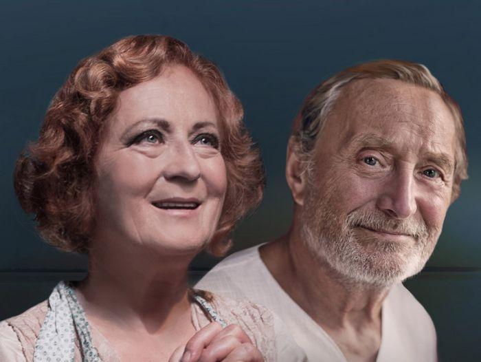 S Ladislavem Frejem, který hraje v jejího manžela v romantické komedii amerického dramatika Ernesta Thompsona Na Zlatém jezeře