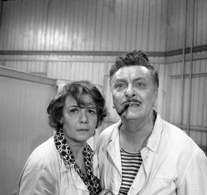 S Robertem Vrchotou v roce 1969, v legendárním seriálu Hříšní lidé města pražského