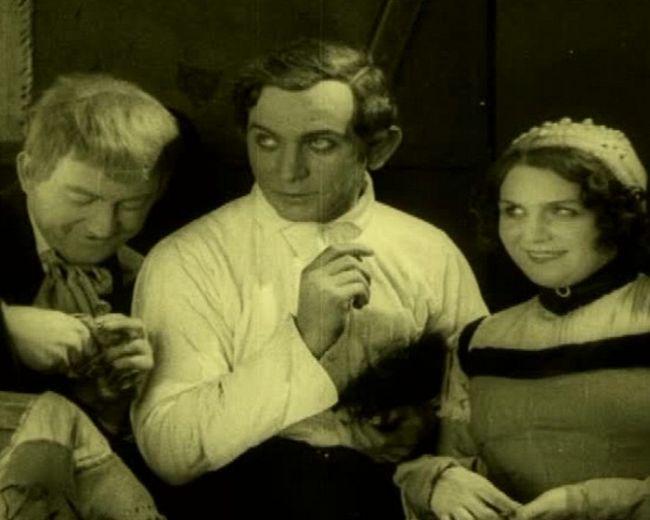 Jeho první historickou osobností se stal Josef Kajetán Tyl ve stejnojmenném němém filmu z roku 1925 – na snímku s Helenou Friedlovou a Ludvíkem Veverkou