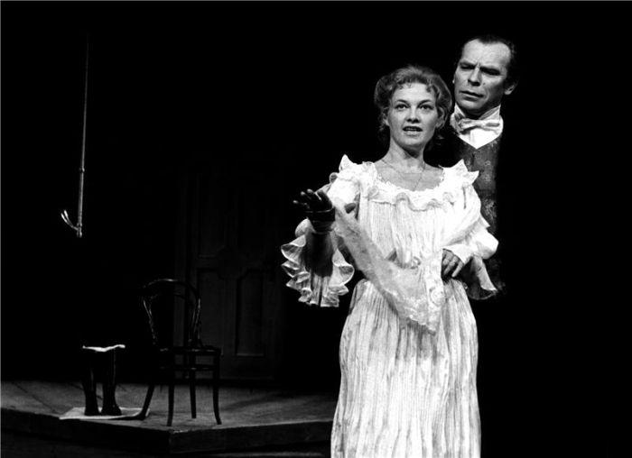 S Janou Preissovou v roce 1988, v dramatu Augusta Strindberga Slečna Julie