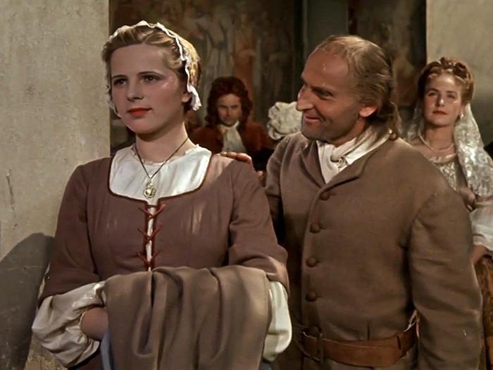 V roce 1950 jako Helenka v historickém dramatu Karla Steklého Temno