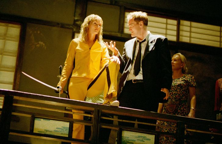 Režisér Quentin Tarantino se svou múzou během natáčení