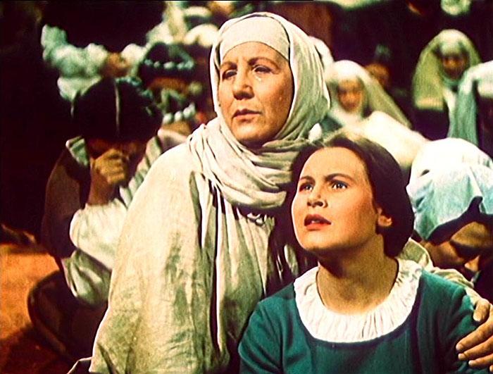 S Marií Brožovou v roce 1954 v historickém velkofilmu Jan Hus