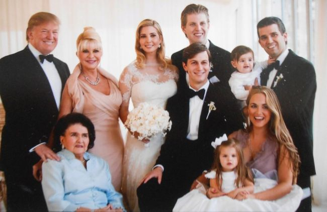 Na svatbě dcery Ivanky