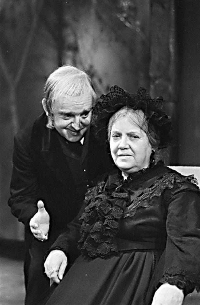 S Pavlou Maršálkovou v tragikomedii A. N. Ostrovského Vlci a ovce – Divadlo S. K. Neumanna 1976