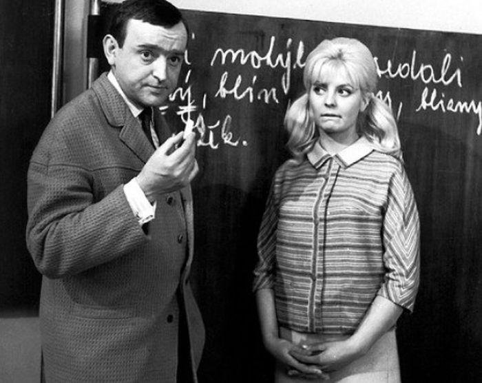 S Evelynou Steimarovou v roce 1964 v komedii Neobyčejná třída