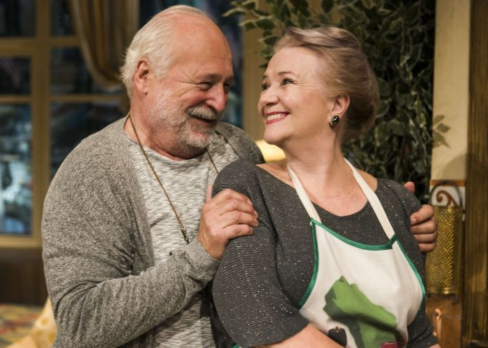S Ludmilou Molínovou v představení Famílie v Divadle na Fidlovačce