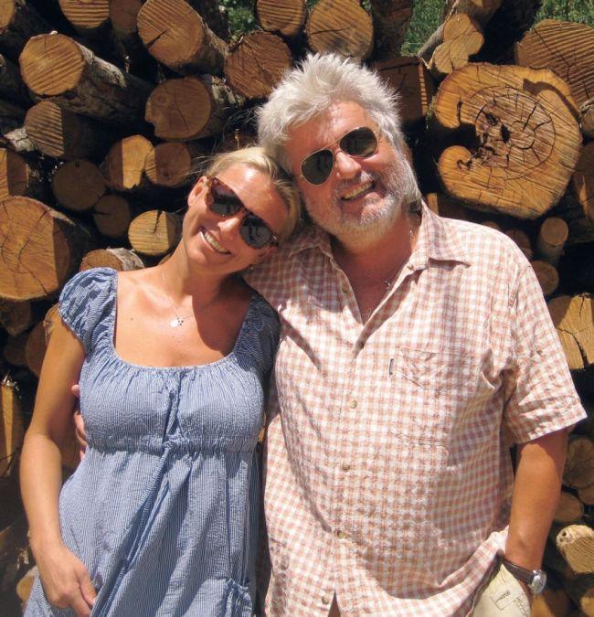 S manželem, slovenským režisérem Dušanem Rapošem