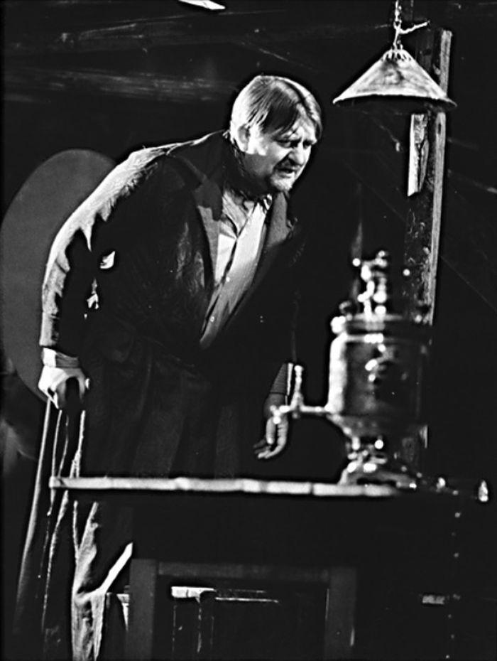 Kostylev v dramatu Maxima Gorkého Na dně – Divadlo Na zábradlí, 1971