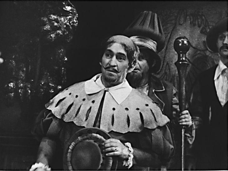 Baptista v Shakespearově Zkrocení zlé ženy v Divadle E. F. Buriana v roce 1968