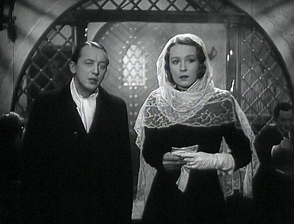 Jan Půst a Mařenka Berková (Nataša Gollová) v romantickém dramatu z roku 1941 Rukavička