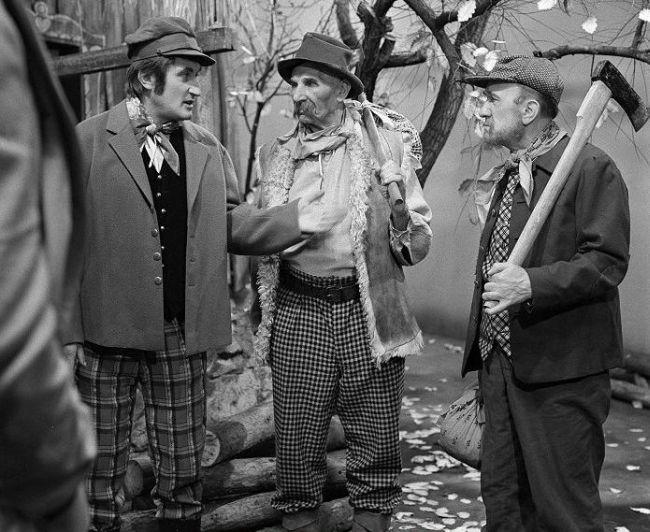Naposledy před kamerou v roce 1970, s Františkem Filipovským a Pavlem Landovským jako dřevorubec v televizní inscenaci Nejsem chmýrko na bodláku