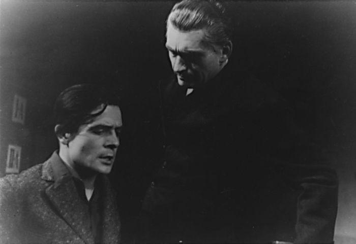 S Ladislavem Boháčem v Národním divadle v roce 1948, v představení Odvety